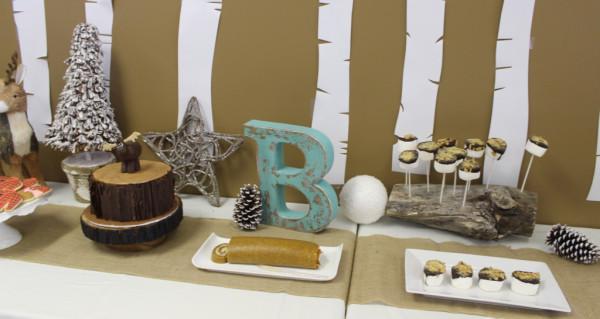 Lumberjack dessert table
