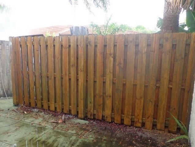 Pressure Wash Wood Fence