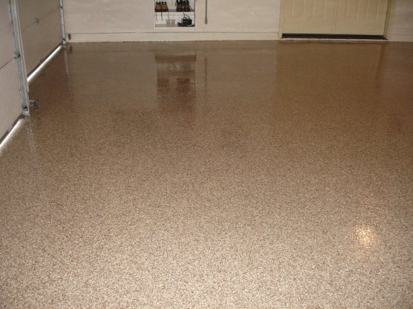 Garage Chip Epoxy Taos