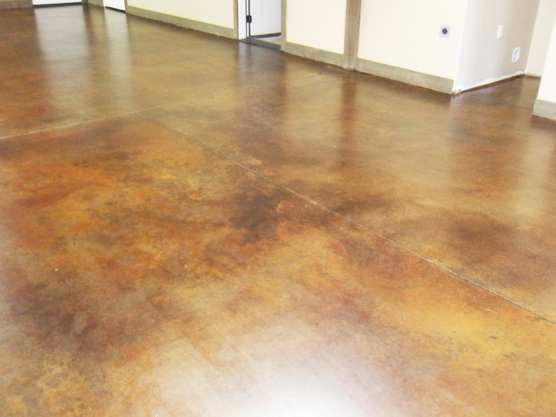 Stained Concrete Rustic Look