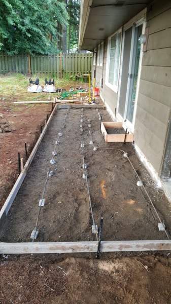 Stamped Concrete Patio ready for concrete