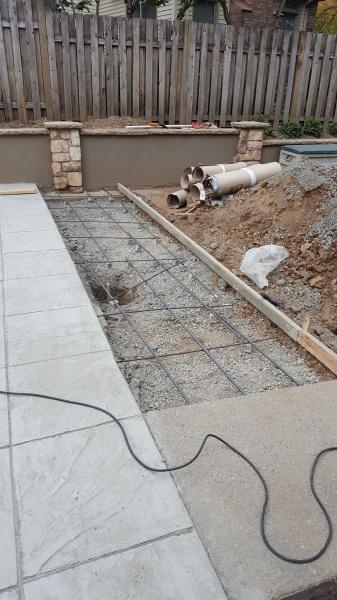 Rebar concrete stamping