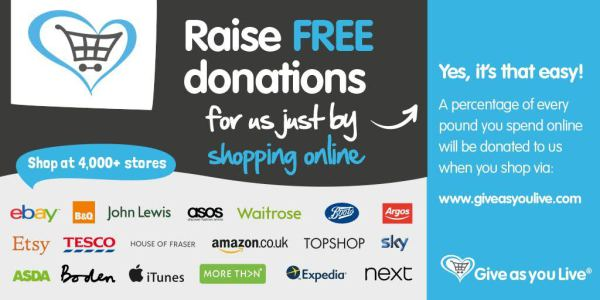 GIVE AS YOU LIVE Free Donations