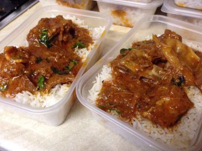 Curry and rice on sale