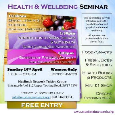 Health & Well-being FREE Seminar