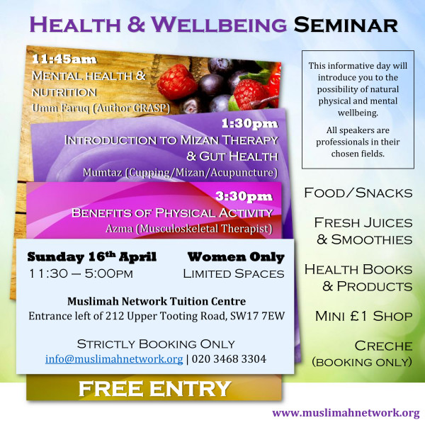 Health & Well-being FREE Seminar