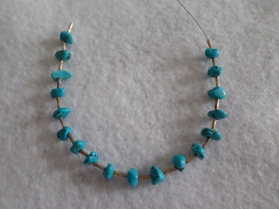 Morenci turquoise beads