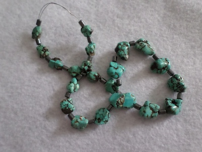 Turquoise beads (mine unknown)