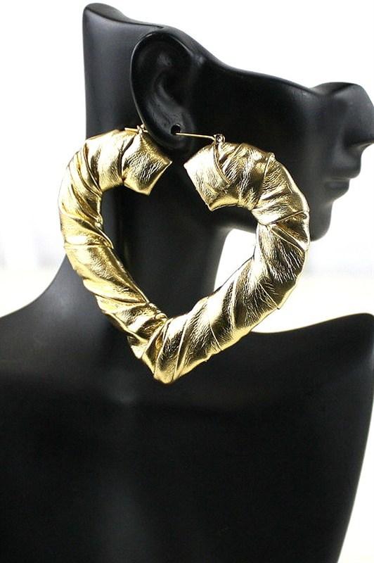 GOLD HEART LOOP  $12