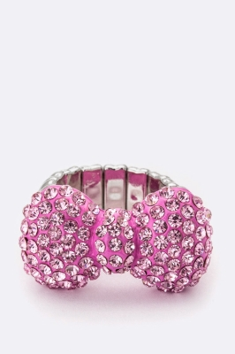 PINK BOW RING $12