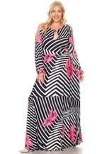 PLUS MAXI PINK DRESS $60