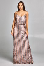 METALIC DRESS $165