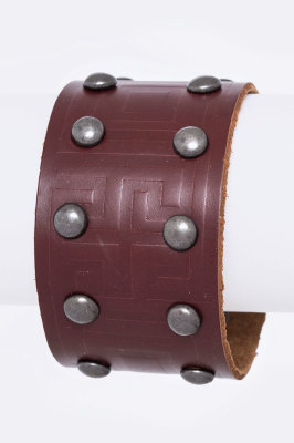 LEATHER CUFF BRW  $16