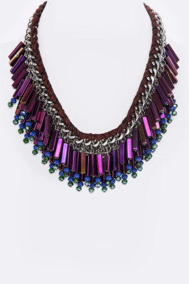 PURPLE DESIGNER NECKLACE  $30