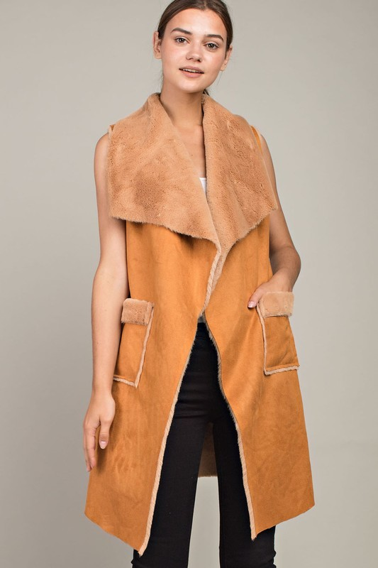 LONG CAMEL JACKET $70