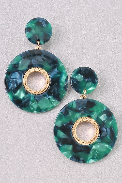 GREEN EARRINGS  $16