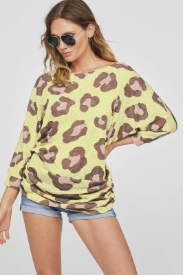 CHEETAH SWEATER $26