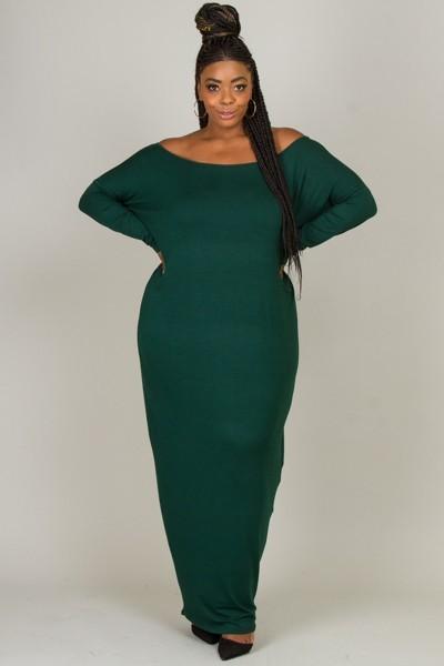 GREEN MAXI  DRESS  $42