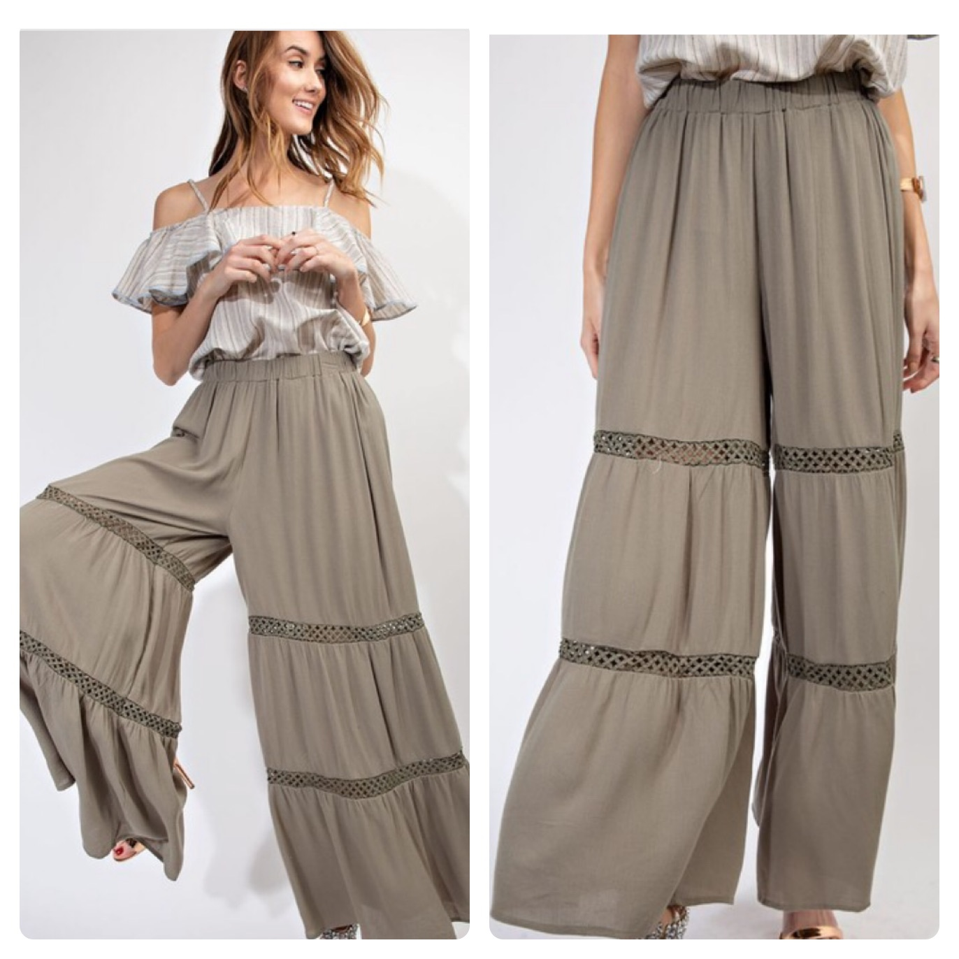 FLARED LONG PANTS  $35