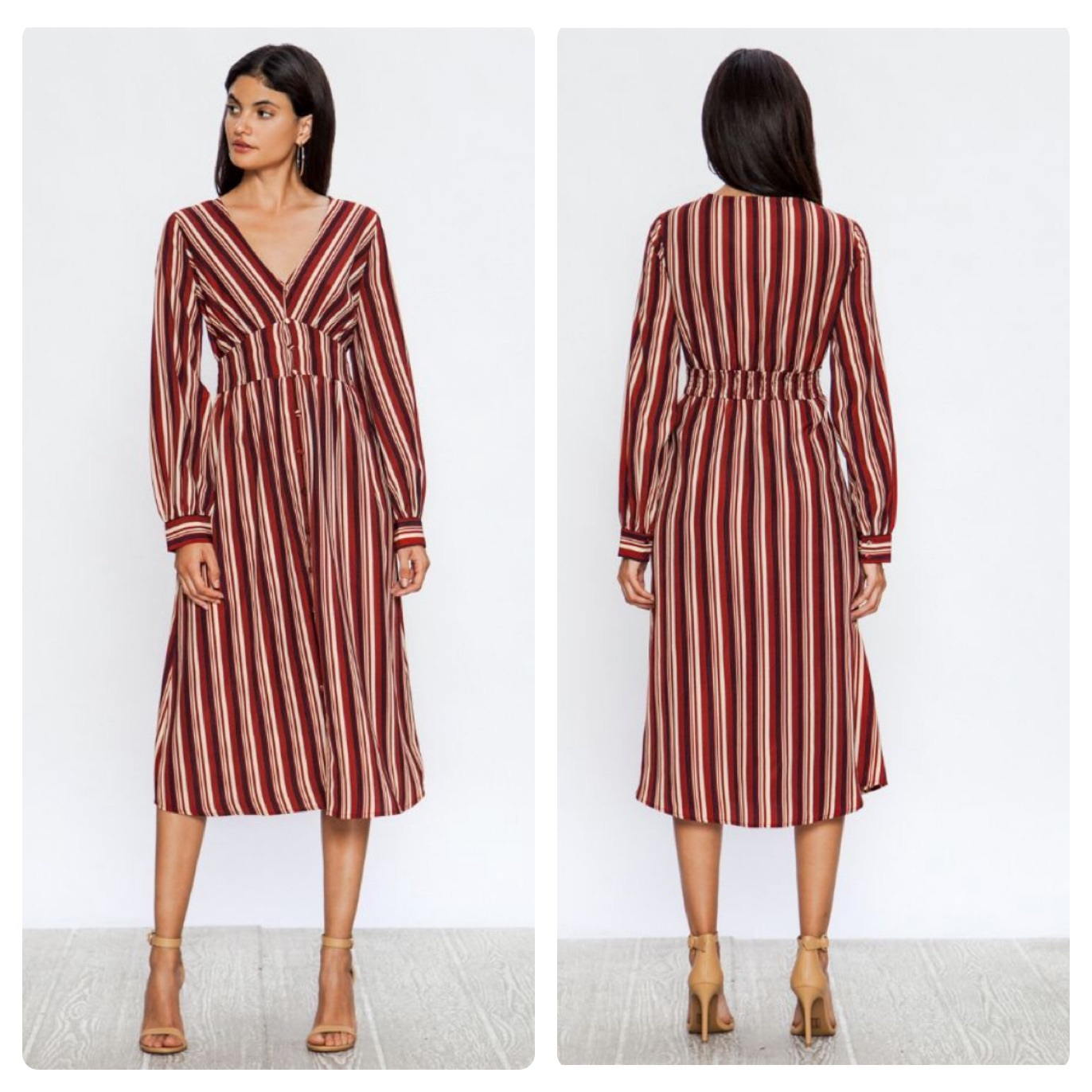 RED STRIPE DRESS $46