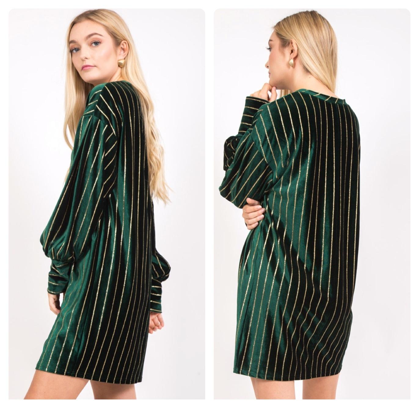 VELVET GREEN DRESS  $46