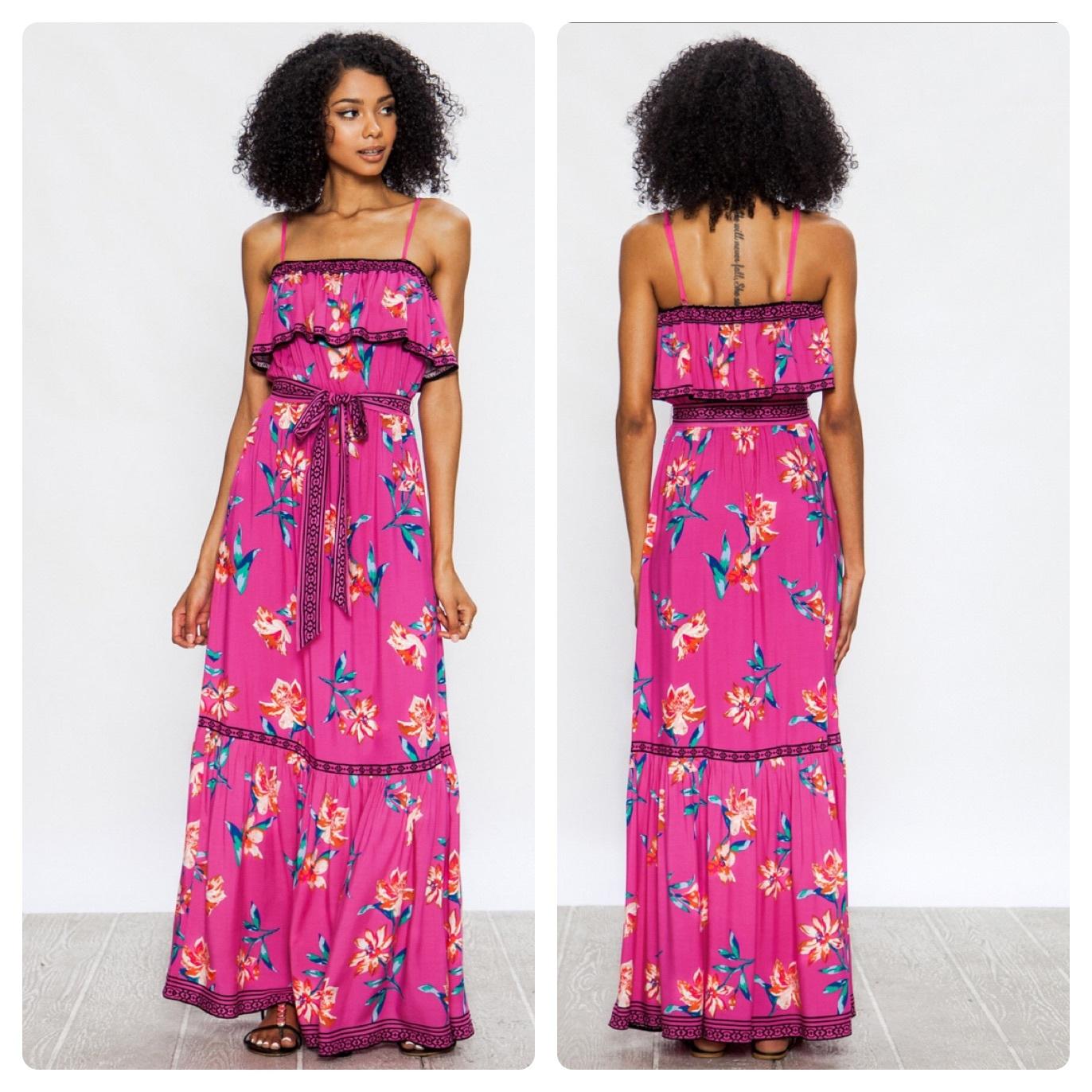 PINK FLORAL DRESS  $60