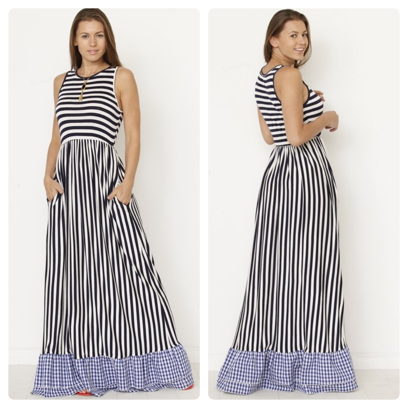 MAXI STRIPE DRESS  $40