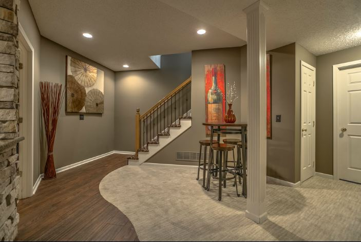 Basement remodel   Designed by Michelle