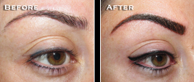 Eyebrows, eyeliner