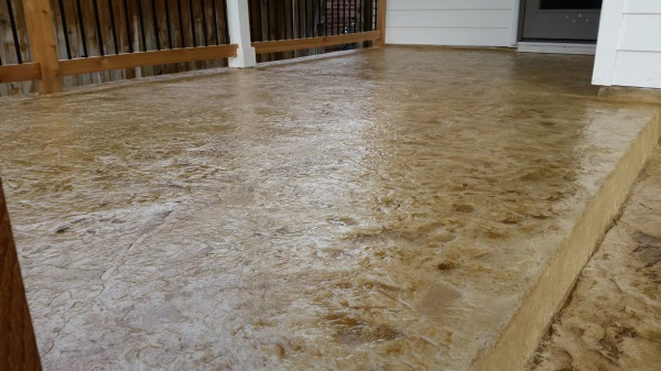 Stain Effect Patio