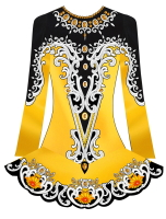 Custom Irish Dance Dress Design, Solo Competition Dress