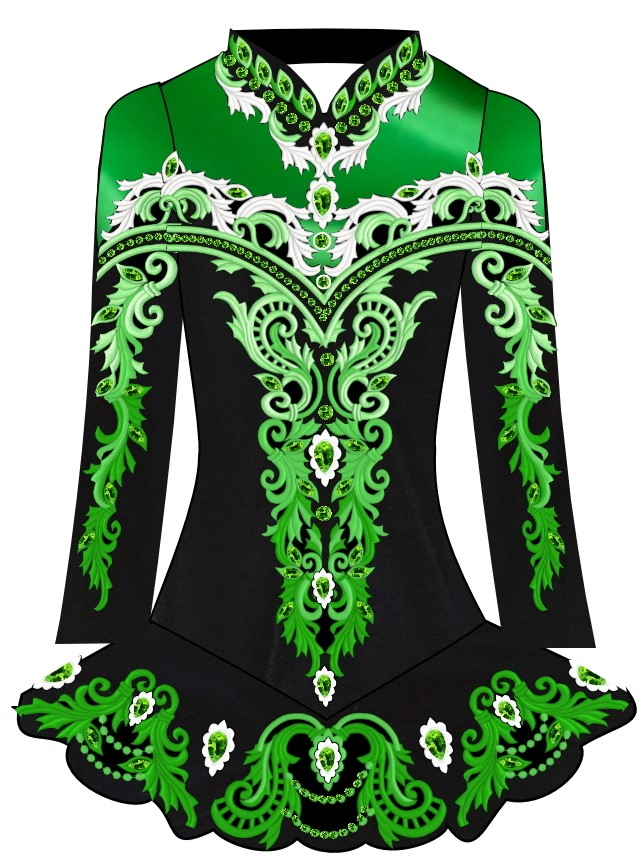 Irish Dance Dress Design, Feis Solo Competition