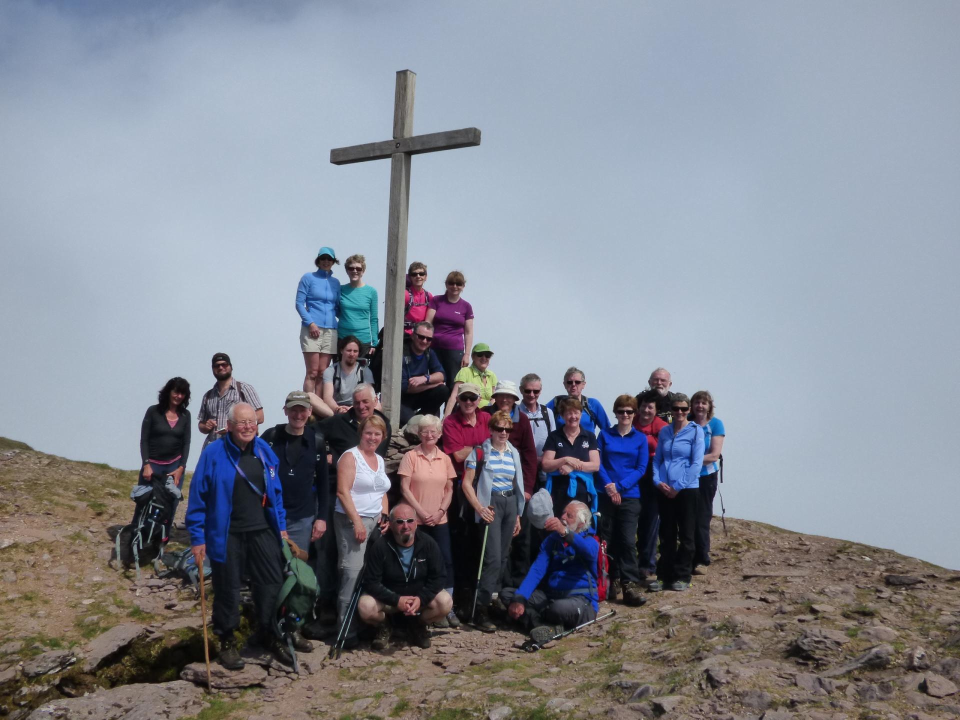 Mt. Brandon - at the top
