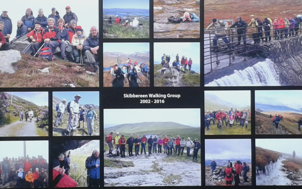 Collage -Thank you to Paddy Leahy for 14 years' contribution to Hill Walking