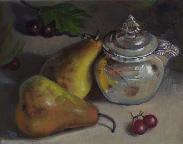 Still Life with Leaning Pear
