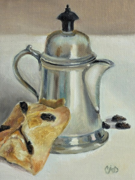 Pewter Creamer w/ Raisin Cake