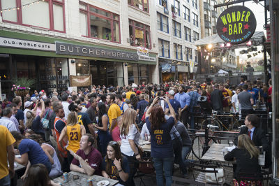 East 4th Street in Cleveland during the Cleveland Cavaliers Playoffs 2015