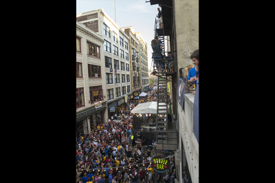 E. 4th St in Cleveland during the CAVS 2015 playoffs, game 6