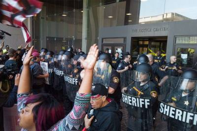 Brelo verdict protest following the acquittal of Cleveland police officer Michael Brelo in Cleveland, Ohio