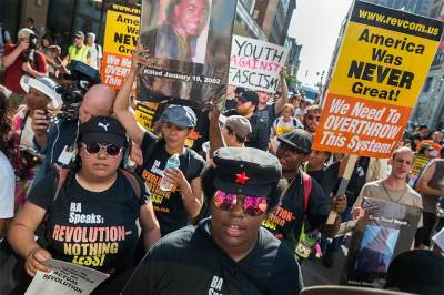 Protests outside of the Republican National Convention 2016 in Cleveland Ohio