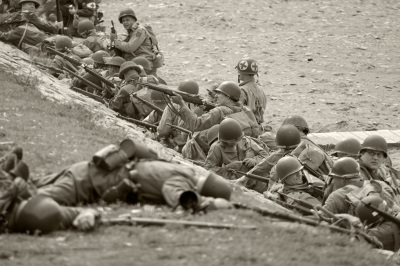 D-Day reinactment in Conneaut, Ohio