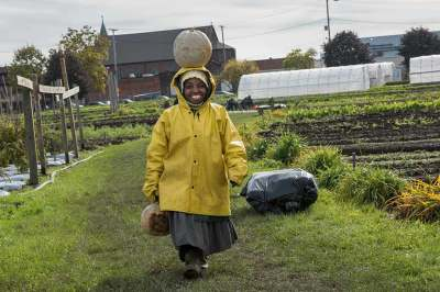 Ohio City Farm worker from The Refugee Empowerment Agricultural Program