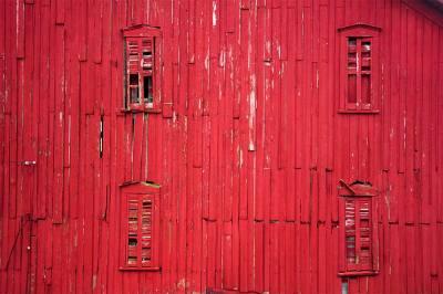 fine art photography, red barn
