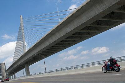 fine art photography, Toledo, highway, motorcycle
