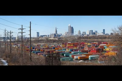 Cleveland, Ohio. city, skyline