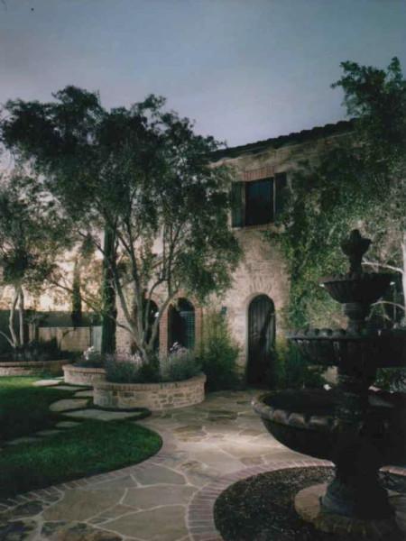 Front Yard, Landscape Design, Pre-Cast Water Feature