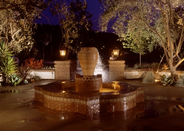 Custom Water Feature, Front Court Yard, Landscaping