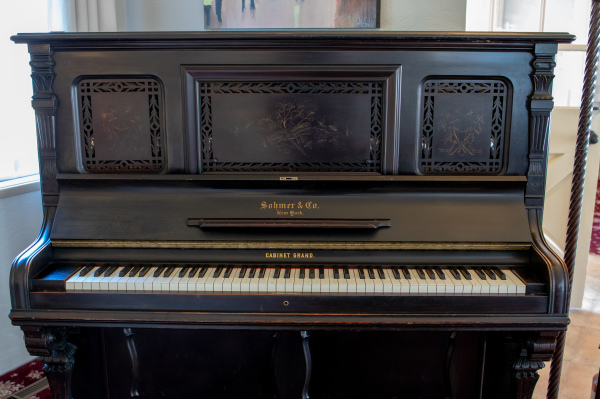 Vintage Piano in Living Room