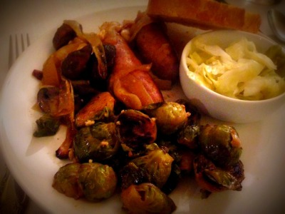 Bratwurst and Brussels Sprout