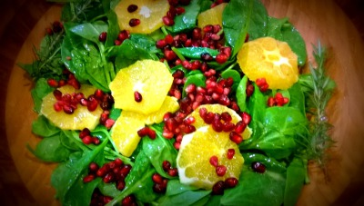 Holiday Salad with Oranges and Pomegranate